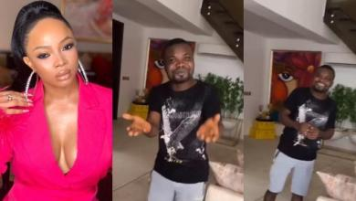 Toke Makinwa's chef thanks her as he builds his own house (Video)
