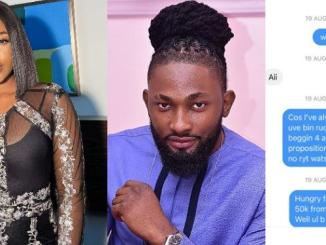 Erica shares her chat with scammer who posed as Uti Nwachukwu