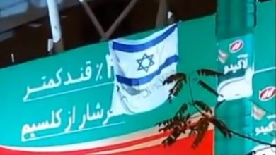 Iran: Israeli flag and sign reading 'Thank You, Mossad' displayed after killing of nuclear scientist