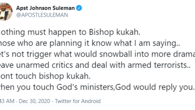 Nothing Must Happen To Bishop Kukah Otherwise God Will Reply You – Apostle Suleman