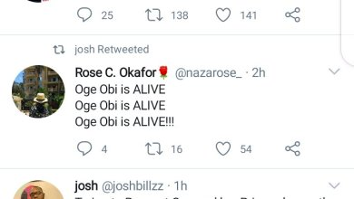 """""""Ogey Obi Is ALIVE"""" – Twitter User Claims After She Drank Poison To Commit Suicide"""