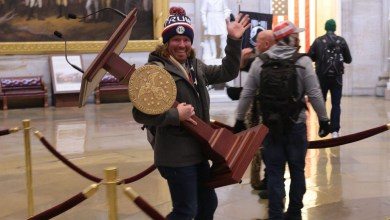 Capitol rioter seen carrying off Nancy Pelosi