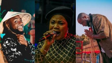 Davido showers Mercy Chinwo with praises, and she responds