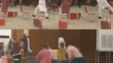 APC members throw chairs at each other as their stakeholders meeting in Kwara ends in violence (video)
