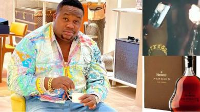 Cubana Chief Priest flaunts a bottle of Hennessey worth N2M (Video)