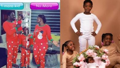 Mercy Johnson's hubby and kids counter her choice of having another child