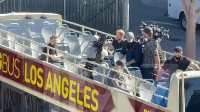 Prince Harry Rolling and Recording with James Corden in Hollywood