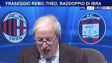 Tiziano Crudeli's ecstatic reactions to each goal as Milan record thumping 4-0 win