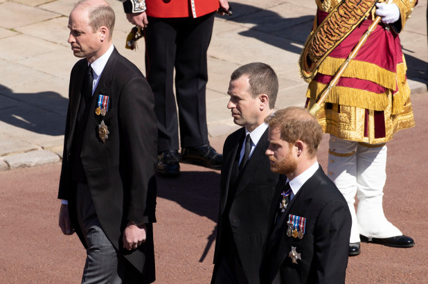 Prince William asked to not walk beside Harry at Philip's funeral
