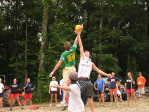 Counselors-in-training jump ball