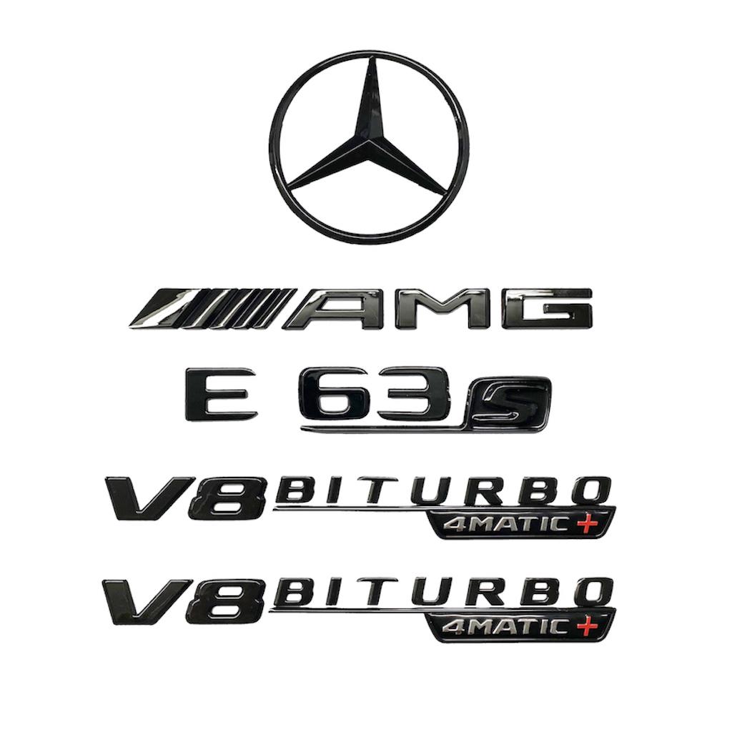 Mercedes AMG E63 S 4MATIC+ Blackout Rear Trunk Emblem