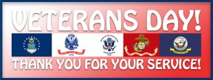 Veterans Day! Thank you for your service!
