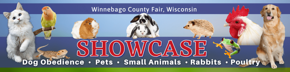 Winnebago County Fair, Wisconsin SHOWCASE: Dog Obedience, Pets, Small Animals, Rabbits, Poultry