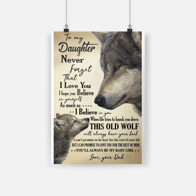 Download Wolf to my daughter never forget that I love you poster