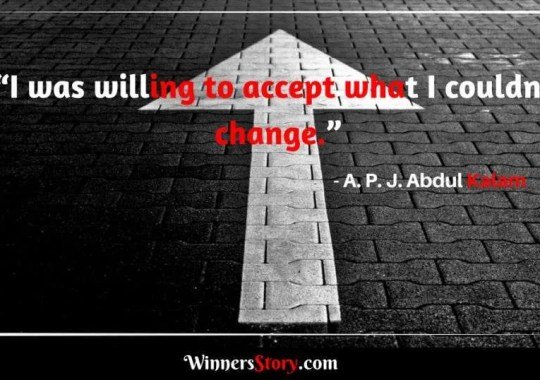 APJ Abdul Kalam quotes on change