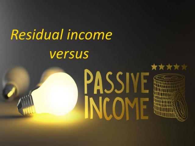 passive income vs residual income