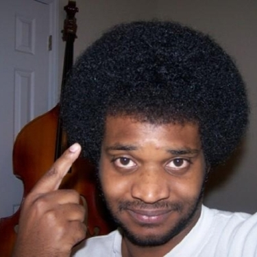 Me, my fro and my double bass