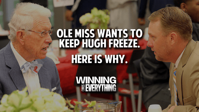 Ole Miss Wants to Keep Hugh Freeze, and Here's Why