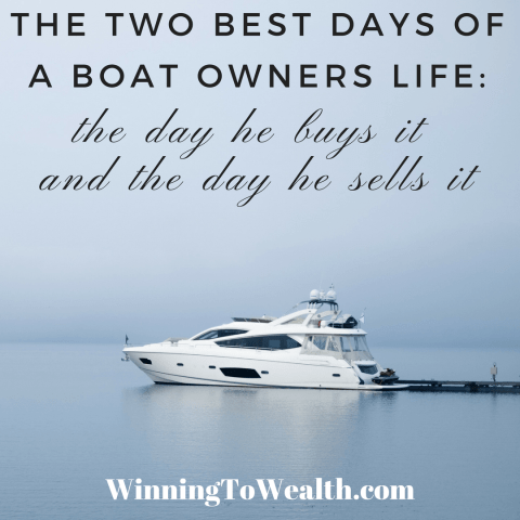 Buying a boat can lead to buyers remorse. Check out this list of 13 items that also lead to financial regret more often than not.