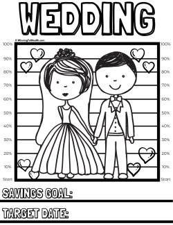 Keep track of your progress as you save for your wedding with this coloring chart.