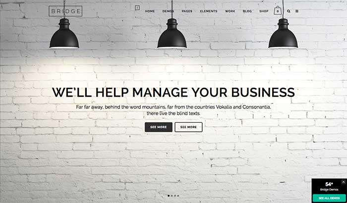 Bridge - One-Page WordPress Theme
