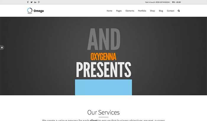 Omega - One-Page WordPress Theme