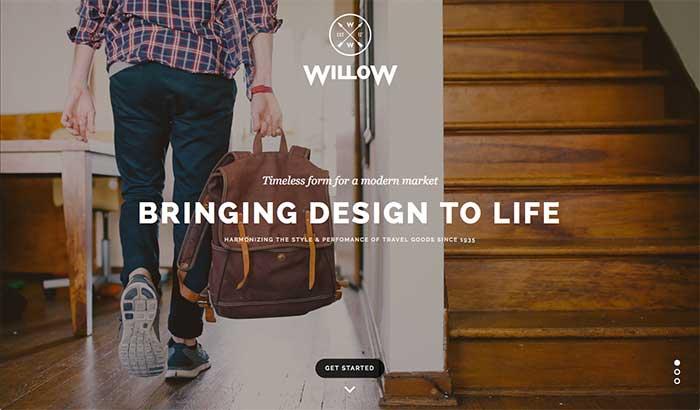 Willow - One-Page WordPress Theme