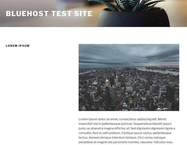 Bluehost Templates Page