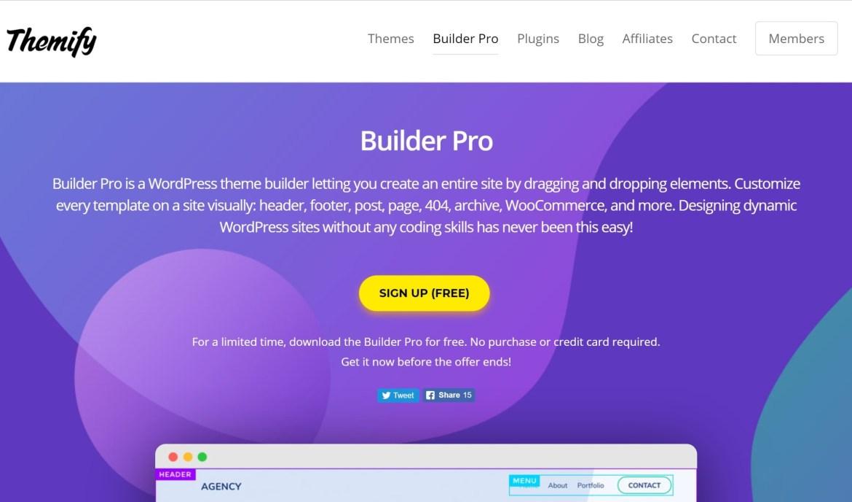 Builder Pro WordPress theme builder