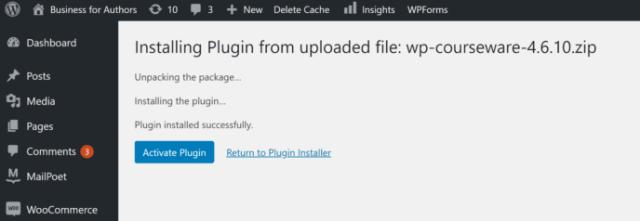 LearnDash vs WP Courseware: Activate WP Courseware Plugin