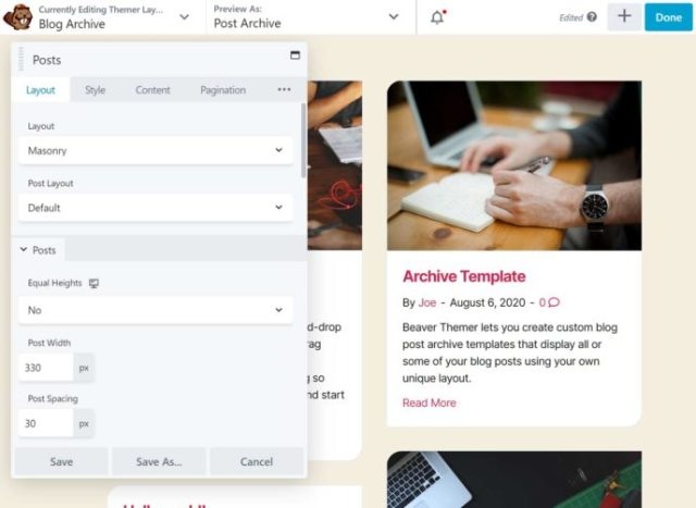 Beaver Builder Archive Template Editor