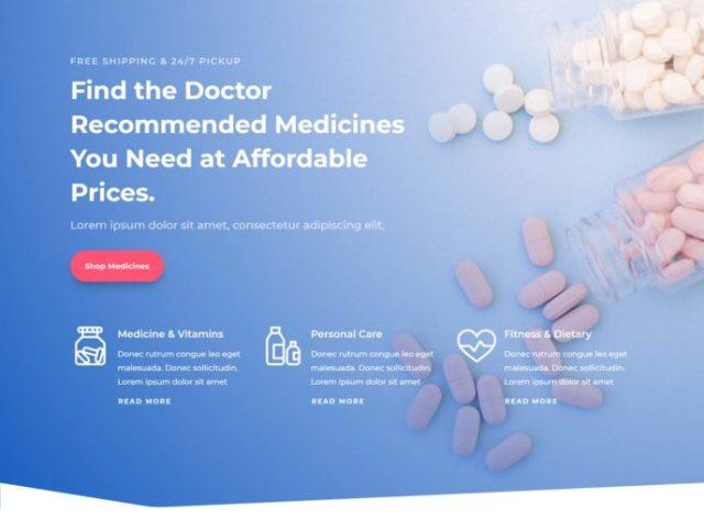 Divi Pharmacy Template