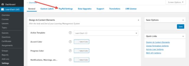 LearnDash settings
