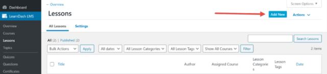 LearnDash vs WP Courseware: LearnDash Lessons Area