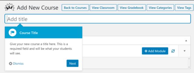 WP Courseware Course Editor