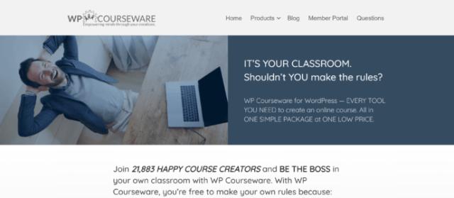 LearnDash vs WP Courseware: WP Courseware Home