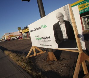 Winnipeg Sign Election Wood