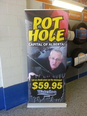 Winnipeg pop-up banner stands