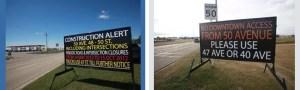 Winnipeg road side portable signs