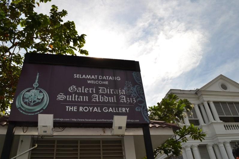 Papan Nama Galeri Diraja Sultan Abdul Azis