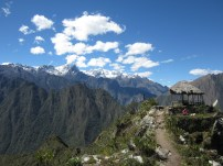 View from top of Cerro Machu Picchu trail