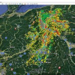 長野県「土砂災害警戒区域」をグーグルアースで「3D見える化」