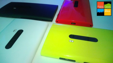 The Lumia 920 in white, matte black, red and bold yellow