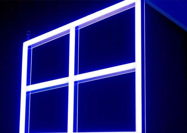 Logo de Windows® 10(diez) en un evento de Microsoft