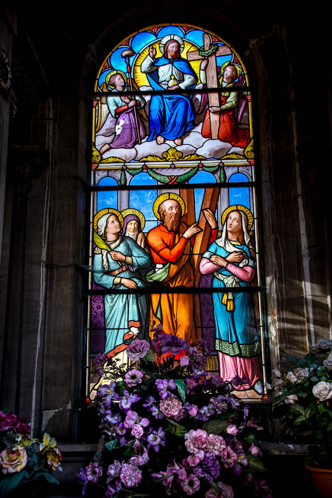 "Paris, Cimetiere du Pere Lachaise Vitraux, Stained Glass  ""©Hatuey Photographies"""