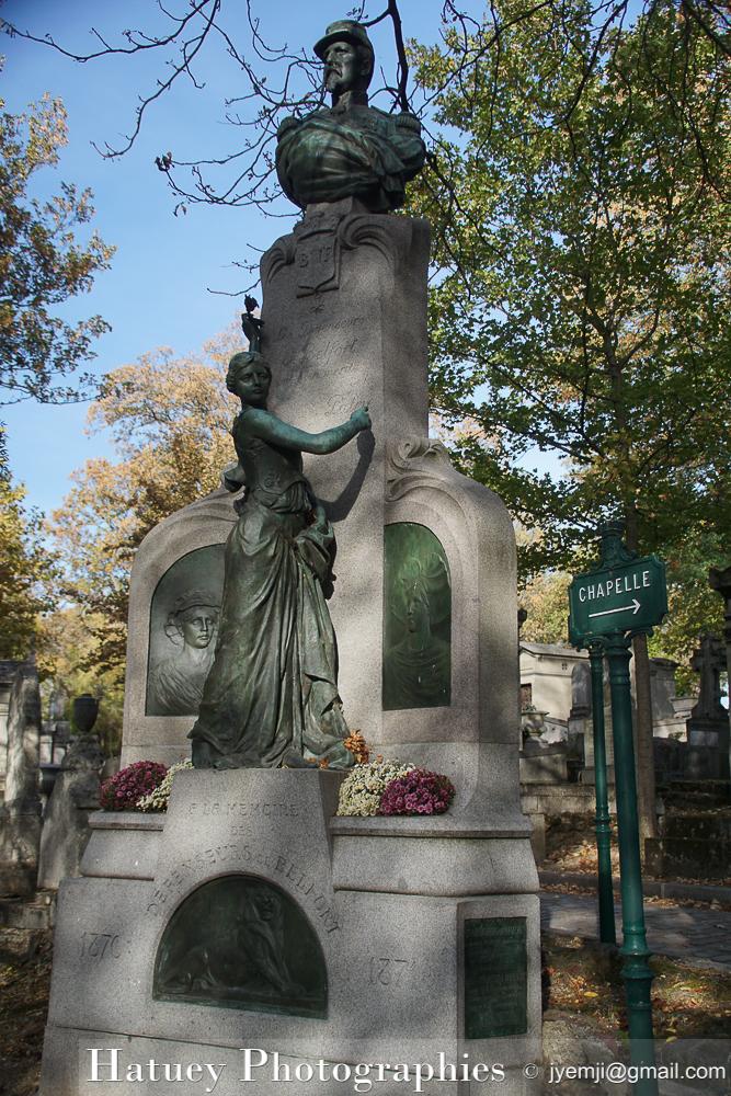 """Paris, Cimetiere du Pere Lachaise, Monument à la mémoire des Défenseurs de Belfort""""©Hatuey Photographies"""""""