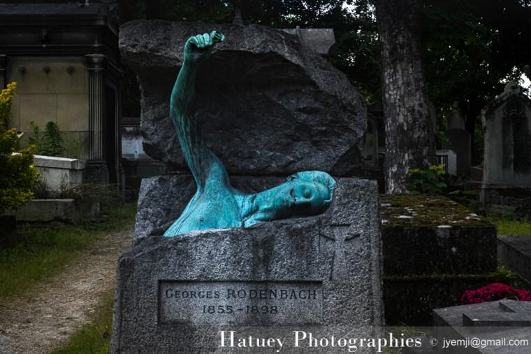 """Paris, Cimetiere du Pere Lachaise , Photographies de Paris, Cemetery Graveyard Cementerio Cimitero Friedhof , Cimetiere du Pere Lachaise , Photographies de la tombe de RODENBACH Georges (1855-1898) par """"©Hatuey Photographies"""""""