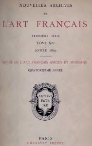 Nouvelles Archives de l'Art Francais