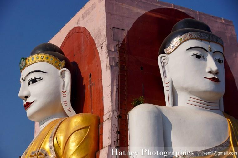 Myanmar Birmanie, Photographies 2015, Asie, Kyaik Pun Pagoda,Bouddha, Bago,Pegou, by © Hatuey Photographies