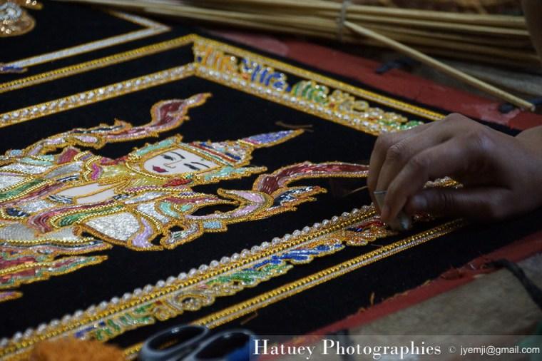 Myanmar Birmanie, Photographies 2015, Asie, Kagala Tapisserie, Mandalay by © Hatuey Photographies